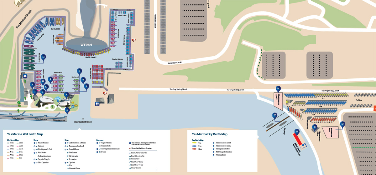 Berth Map | Yas Marina, Yas Island on bahram map, eclipse map, alborz map, venus map, yall map, yak map, topaz map, rising sun map,