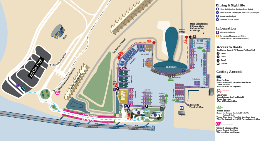 Marina transport Map